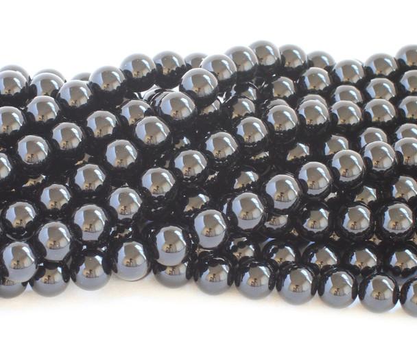 6mm Black onyx smooth round beads