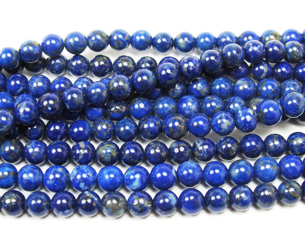 6mm Natural lapis round beads