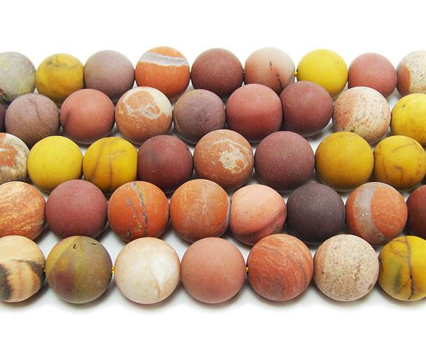 8mm  15.5 inches Mookaite matte round beads