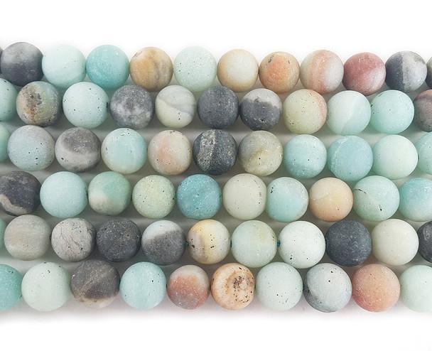 10mm Amazonite matte round beads