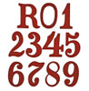 Regimental Number For Pickelhaube Covers - Red