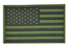 Subdued PVC American Flag Patch - With Hook Fastener from Hessen Antique