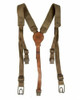 Czech Web and Leather Field Suspenders from Hessen Antique