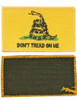 Full Color Gadsden Patches with Hook Fasteners from Hessen Antique