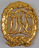 German Sports Badge (Gold) from Hessen Antique