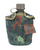 Mil-Tec US Style Plastic Canteen & Flecktarn Cover from Hessen Antique