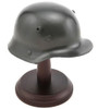 Miniature WWI German M16 Display Helmet With Stand from Hessen Antique