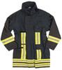 German Fireman's Gore-Tex Blue Jacket - Used from Hessen Surplus