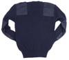Italian Blue V-Neck 'Commando' Style Sweater - Used from Hessen Antique