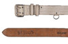 Czech White Leather Parade Belt With Cross Strap
