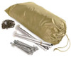 French F1 Khaki Army 2-Man Tent With Ground Sheet From Hessen Antique