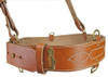 Officer's Brown Leather Belt With Cross Strap from Hessen Antique