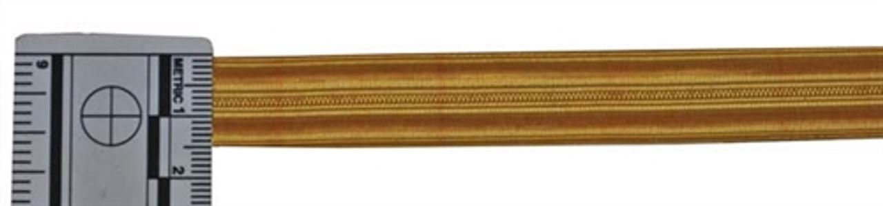 KM Officers Gold Brocade Sleeve Rank Stripe - 16mm