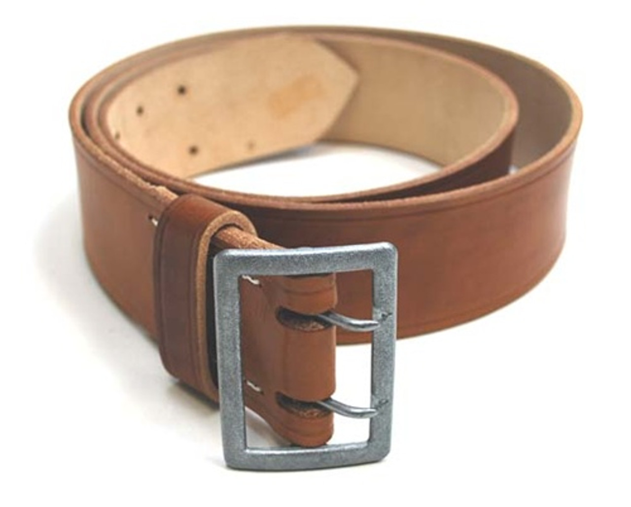 Officer's Brown Leather Belt from Hessen Antique