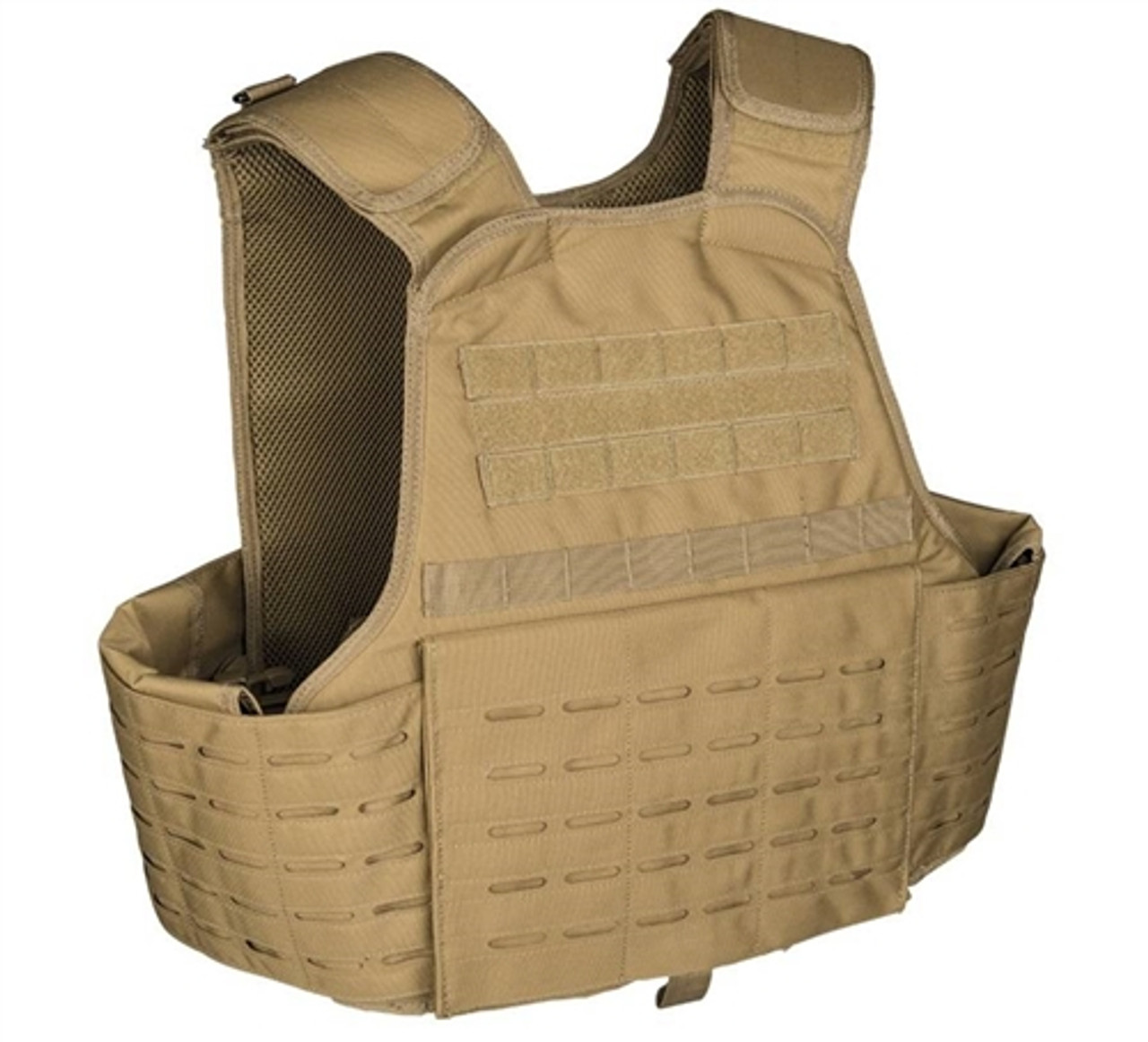 Coyote Laser Cut Plate Carrier Vest from Hessen Antique
