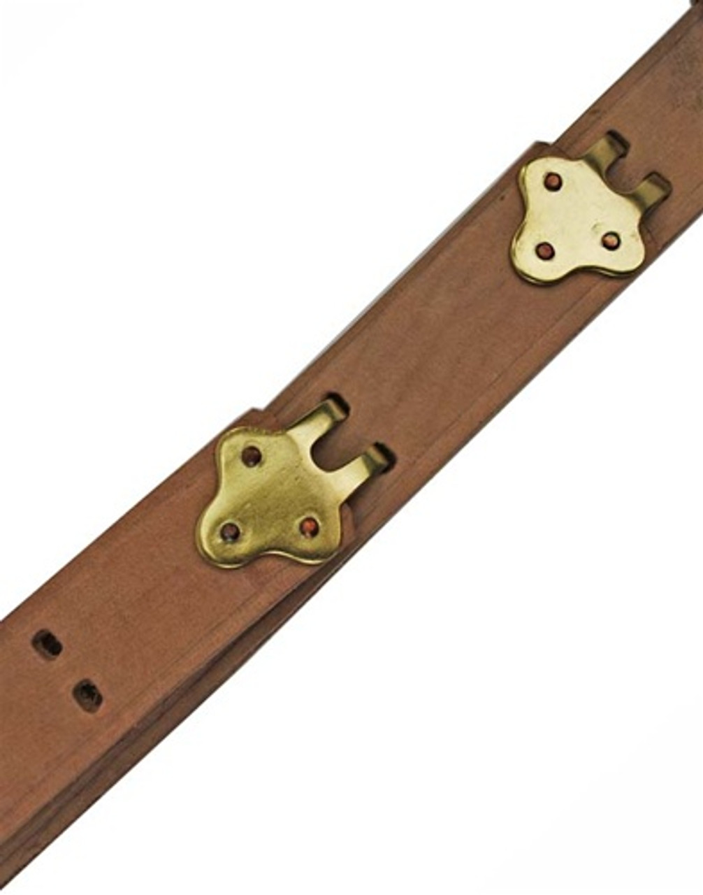 M1 Garand/Springfield 1907 Pattern Leather Sling - Brass Hardware from Hessen Antique