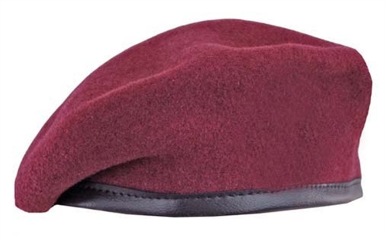 Bw Maroon Beret from Hessen Antique