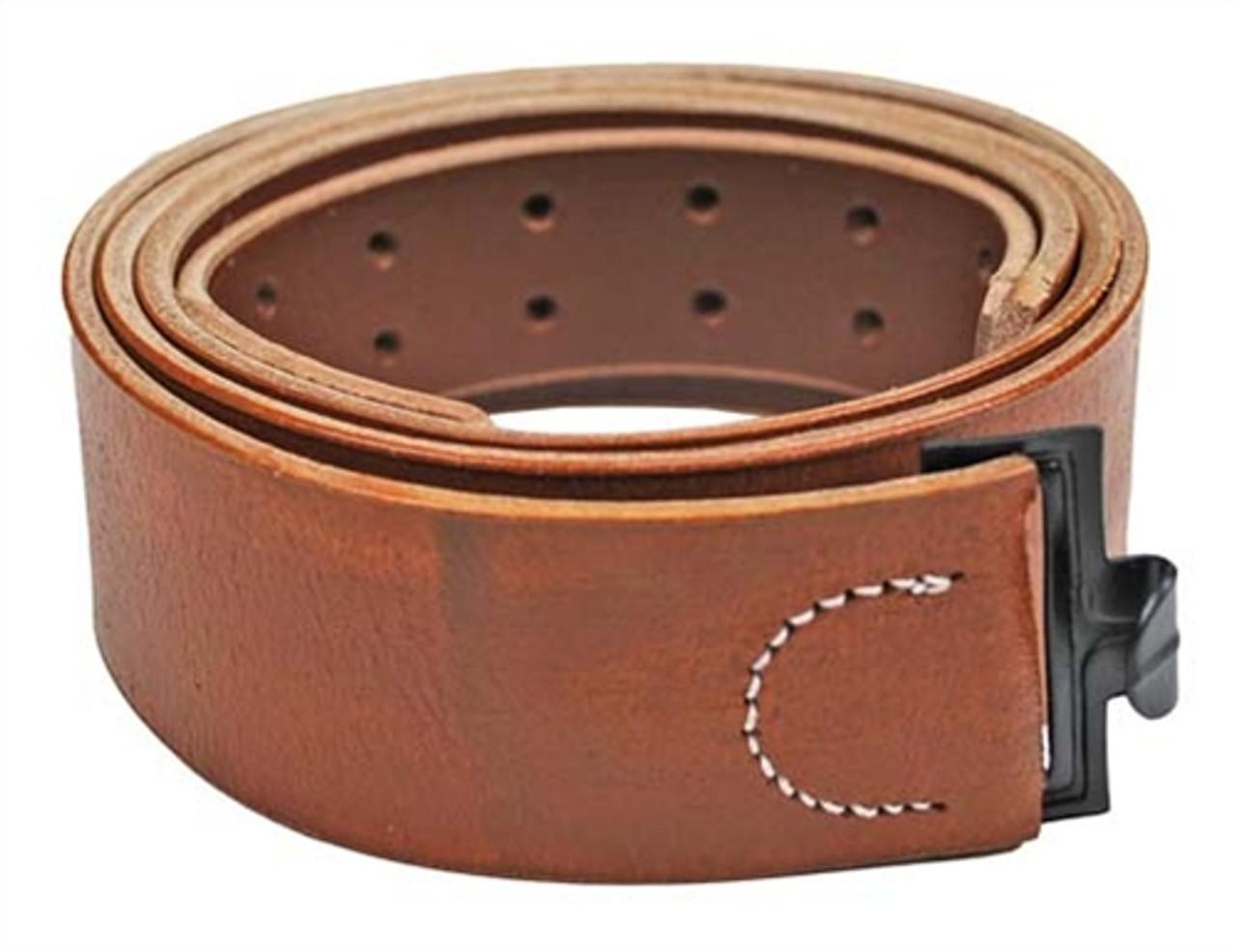 German Leather Equipment Belt from Hessen Antique