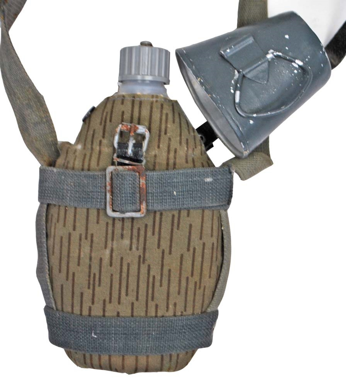 East German Canteen With Carry Harness - One Only from Hessen Antique