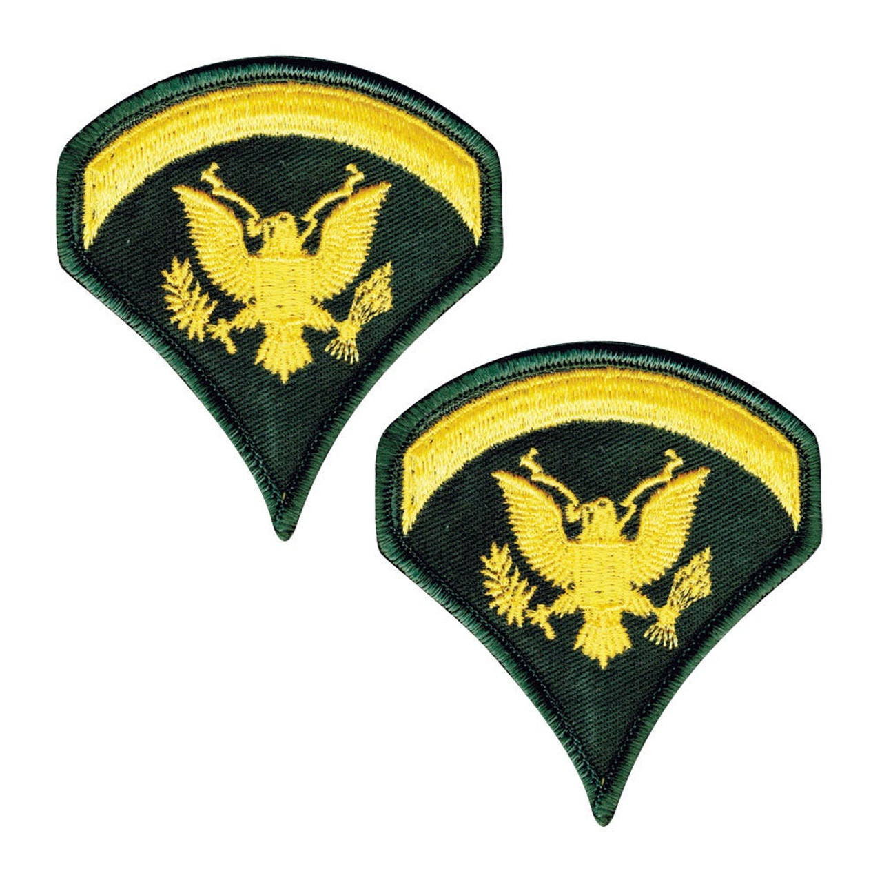 Sleeve Rank Insignia - Gold on Green from Hessen Tactical