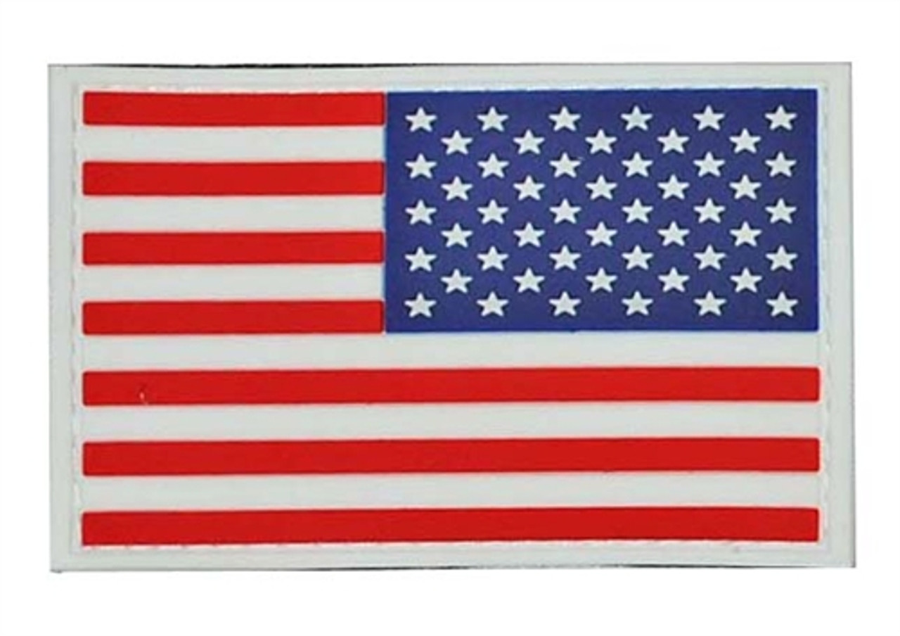 PVC Full Color Reverse American Flag - With Hook Fastener from Hessen Antique