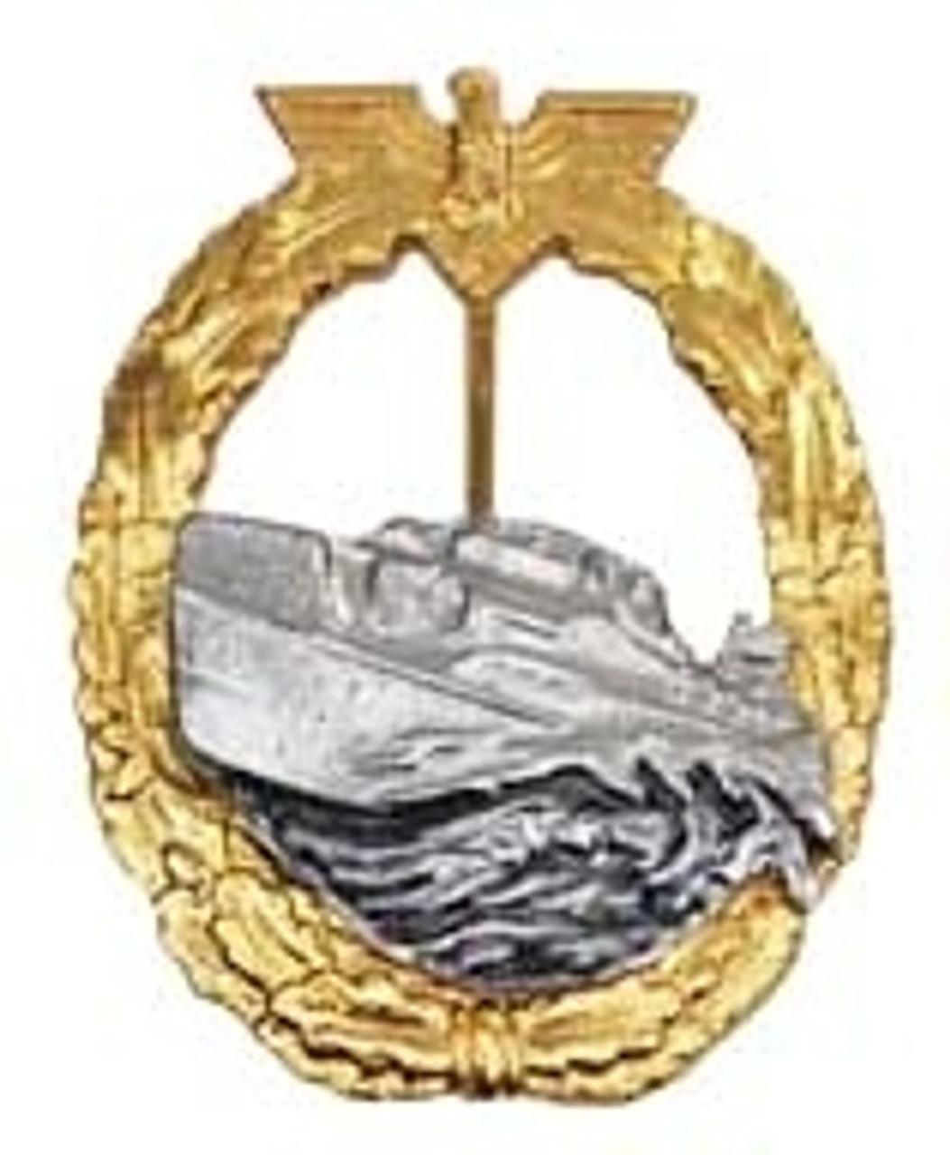 Kriegsmarine Patrol/Torpedo Boat War Badge - 1st Pattern (Schnellboot-Kriegsabzeichen) from Hessen Antique