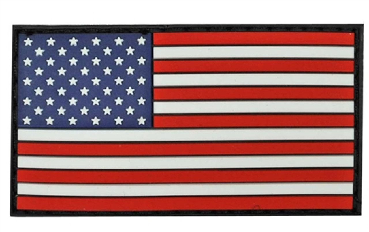 Small PVC Full Color American Flag - With Hook Fastener from Hessen Antique