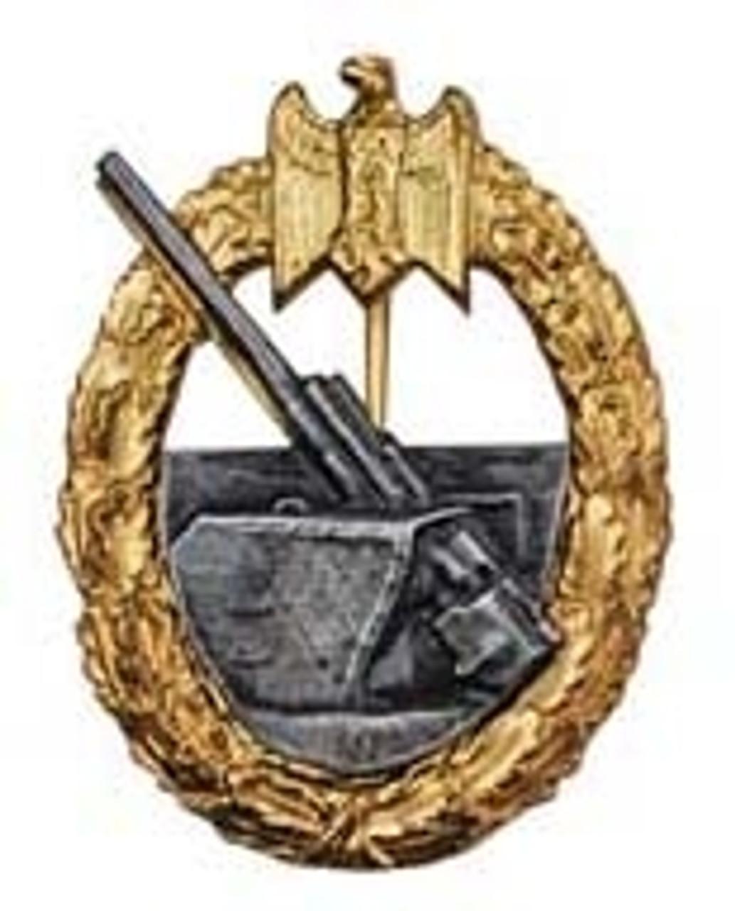Kriegsmarine War Badge for Coastal Artillery (Kriegsmarienabzeichen fuer die Marineartillery) from Hessen Antique