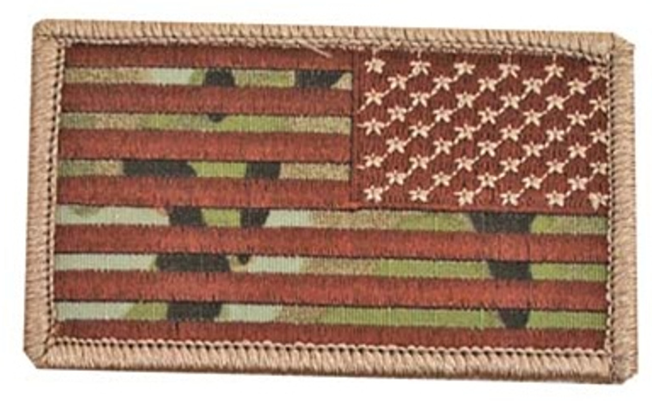 MultiCam U.S. Flag Patch (Reversed) with Hook Fasteners from Hessen Antique
