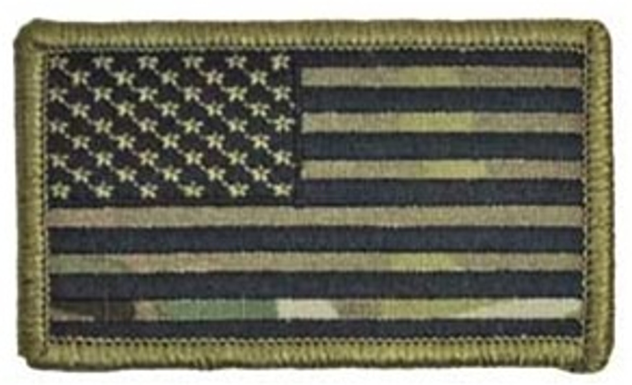 OCP U.S. Flag Patch (Black Thread) w/ Hook Fasteners from Hessen Antique