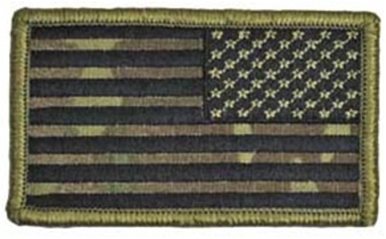 OCP U.S. Flag Patch (Black Thread - Reversed) w/ Hook Fasteners from Hessen Antique