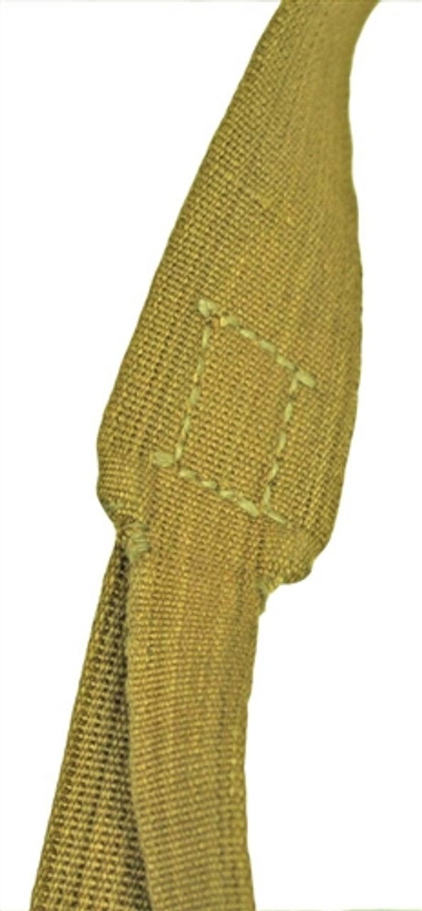 "tan canvas ""tropical"" Y-Strap as used by the Afrikakorps, in Greece, Italy and southern Russia."