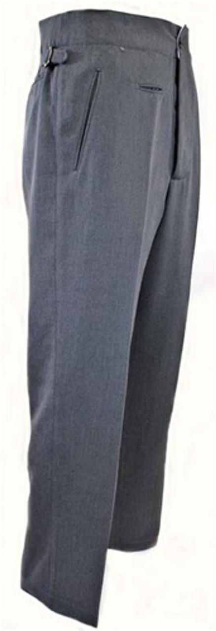Officer trousers in Steingrau Gabardine