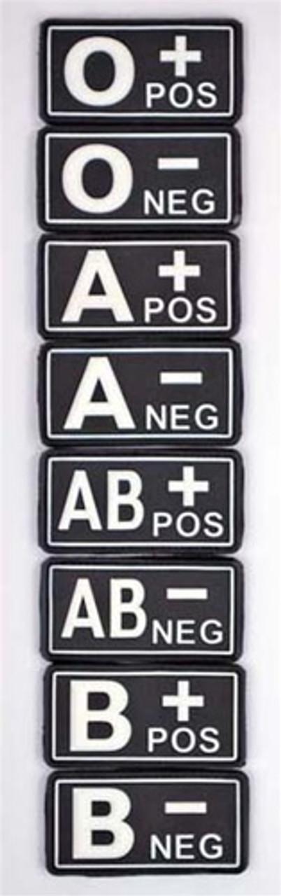 Bundeswehr PVC Blood Type Tab from Hessen Antique