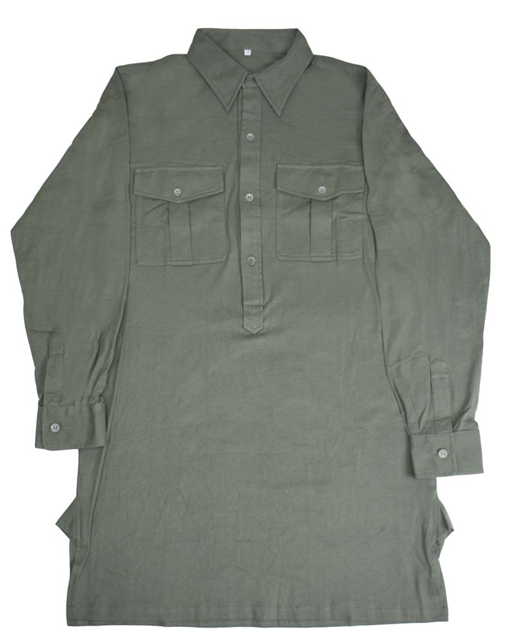 Tricot Knit Service Shirt With Pockets