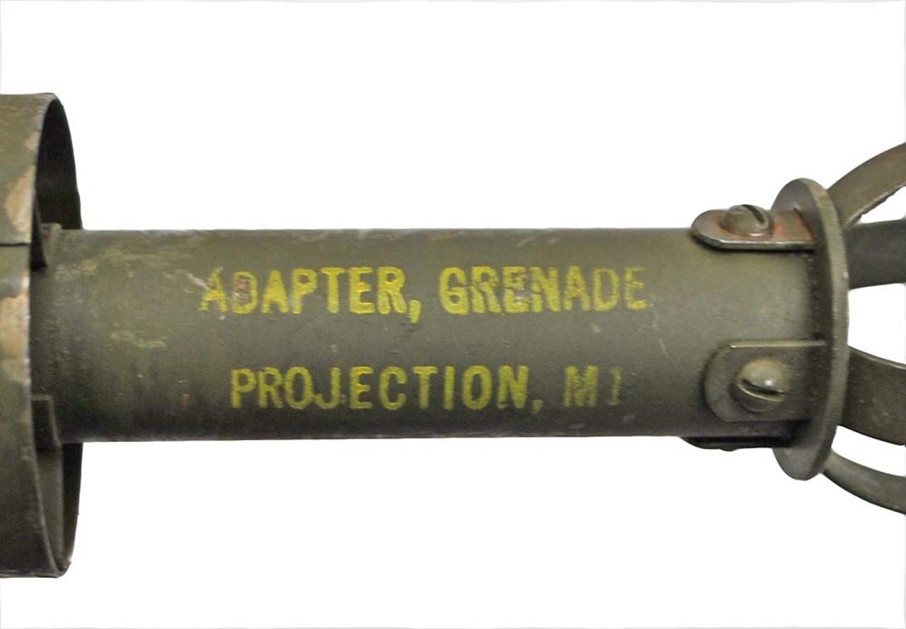 Original USGI WWII Issue M1 Grenade Adapter - 1944 & 1945 Dates from Hessen Antique