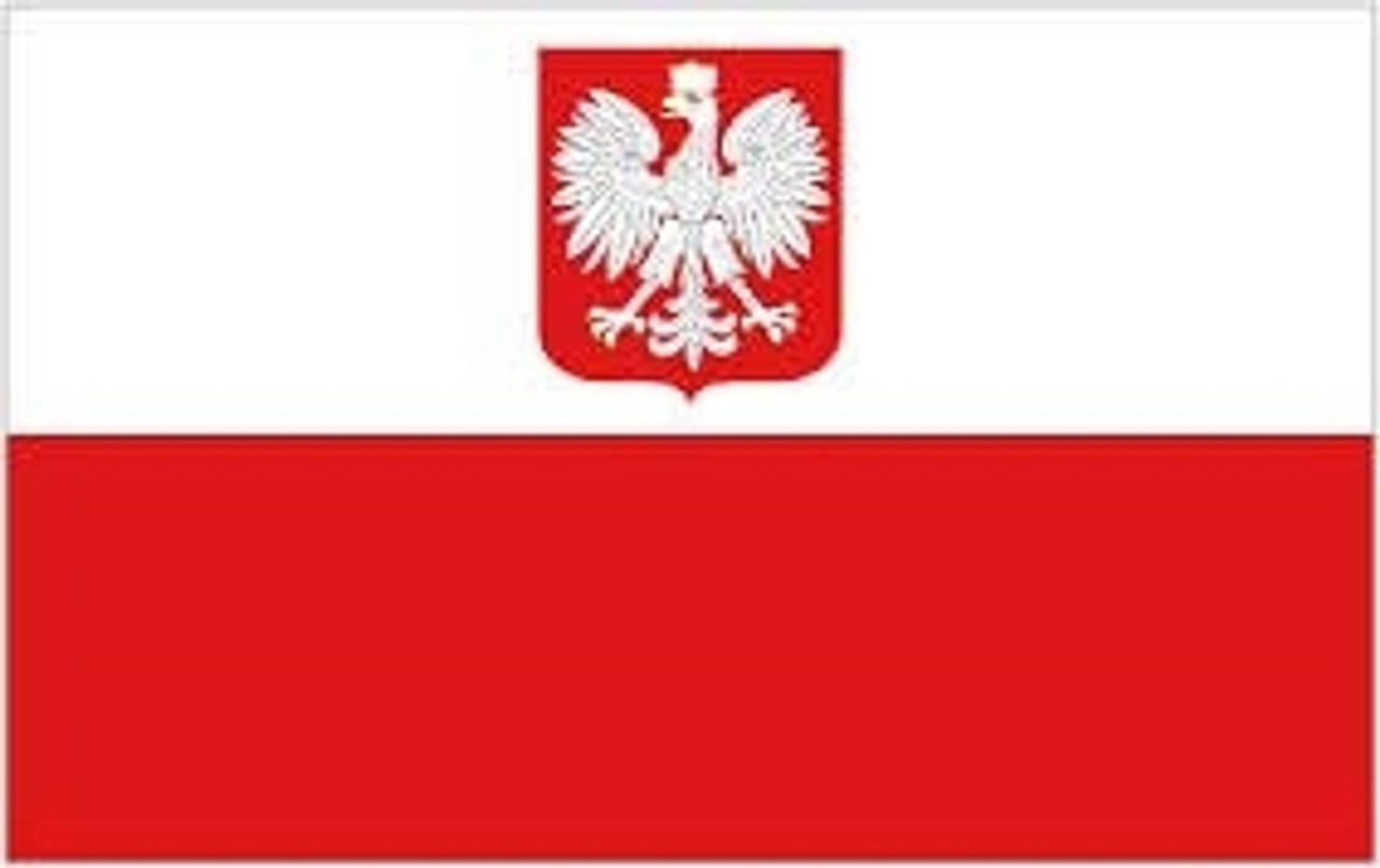 Polish National Flag With Coat Of Arms from Hessen Antique
