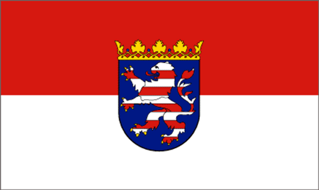 Hessen Flag With Coat Of Arms from Hessen Antique