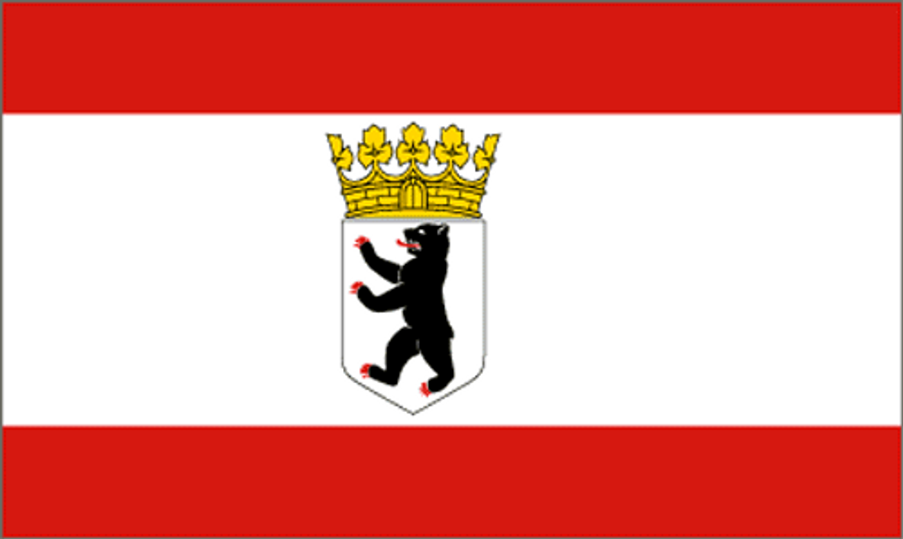 Berlin Flag With Coat Of Arms from Hessen Antique
