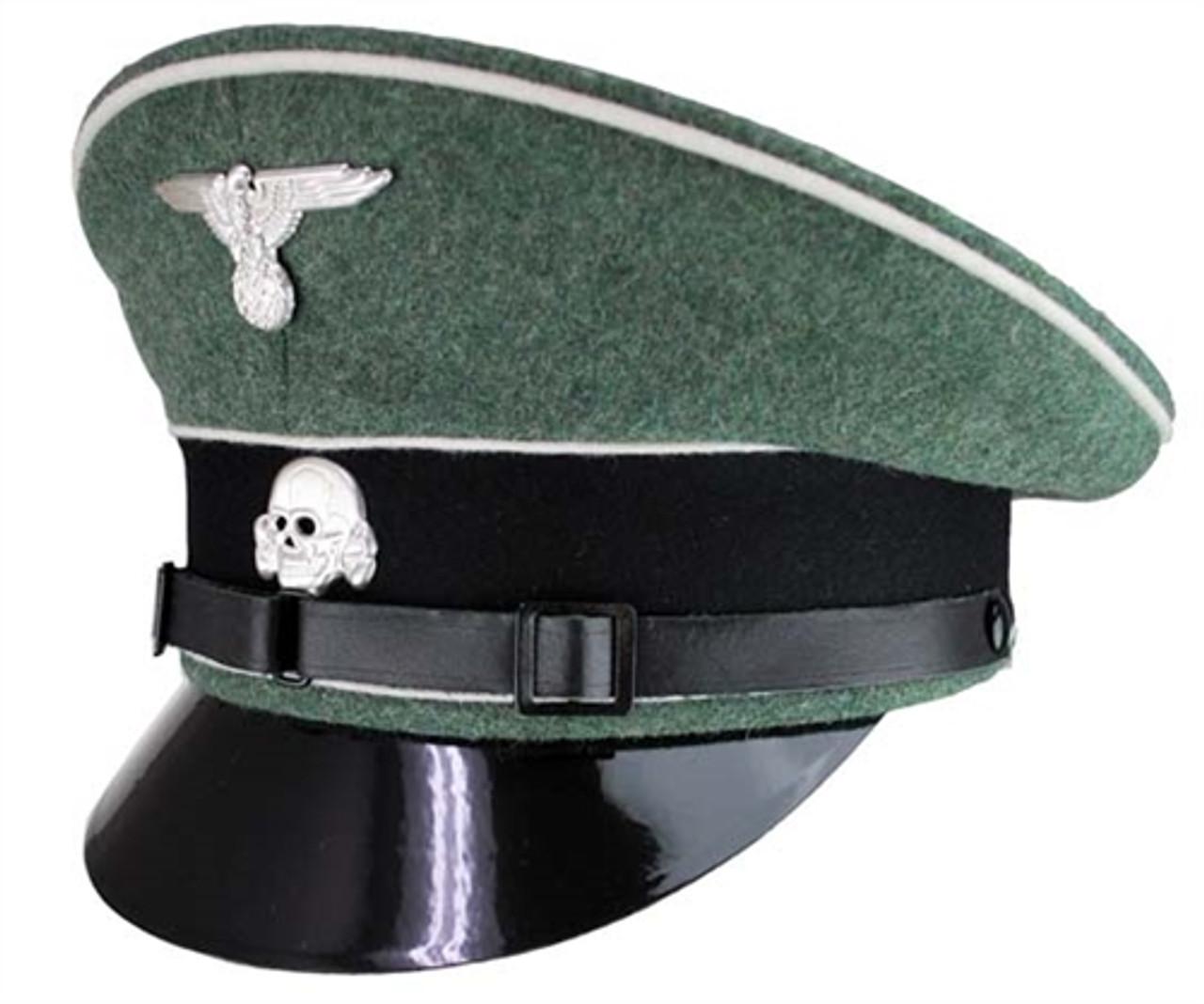 """WaffenSS""""Kleiderkammer"""" Infantry Enlisted Visor Cap from Hessen Antique"""