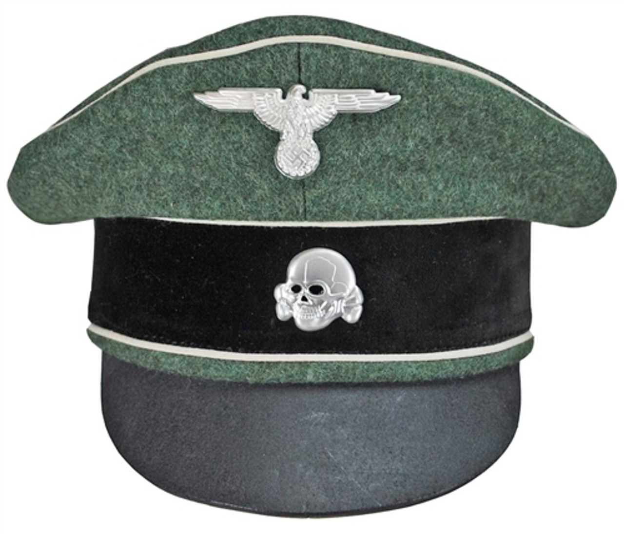 Waffen SS Infantry Officer Crusher Cap from Hessen Antique