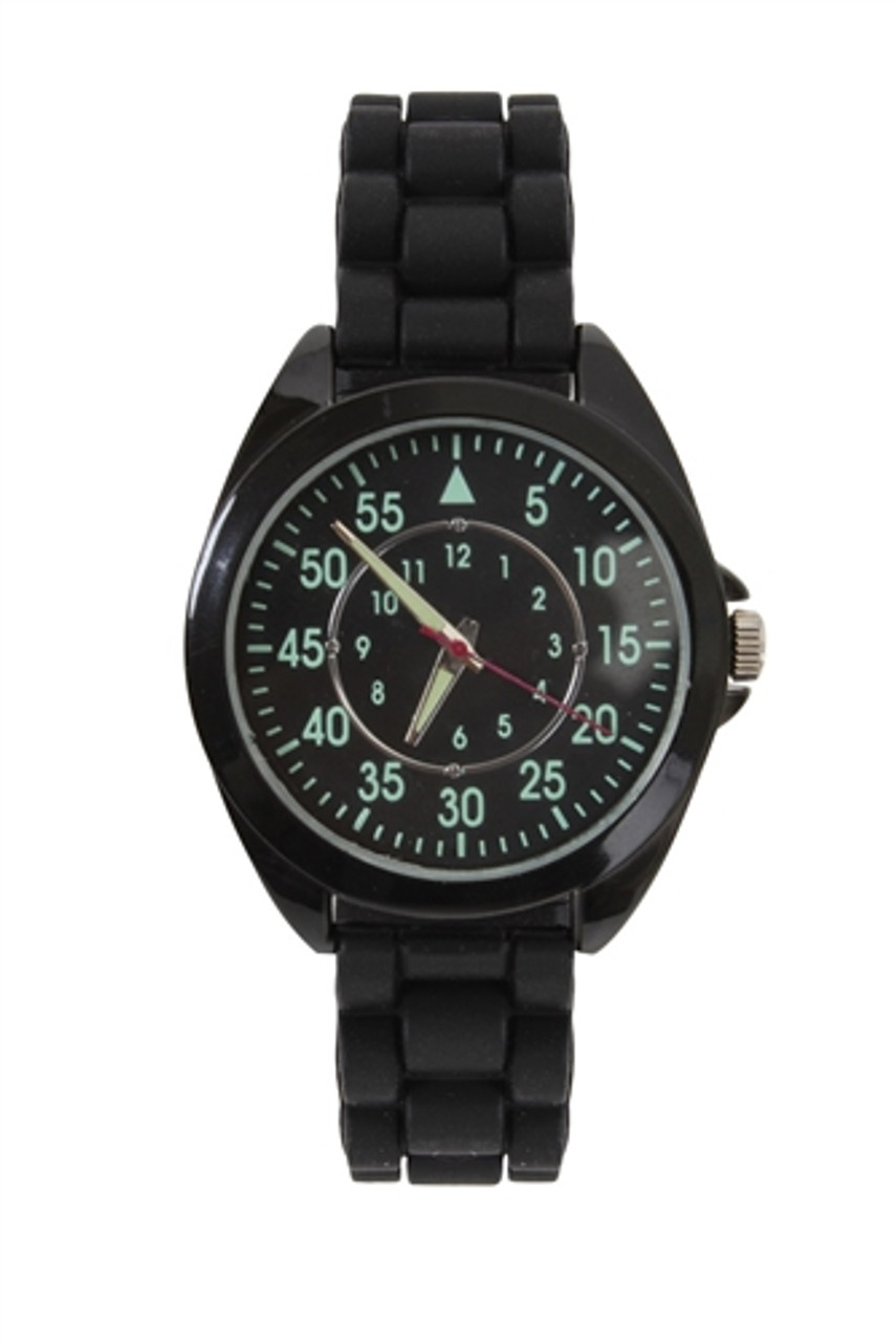 Military Night Ranger Watch with Silicone Strap from Hessen Militaria