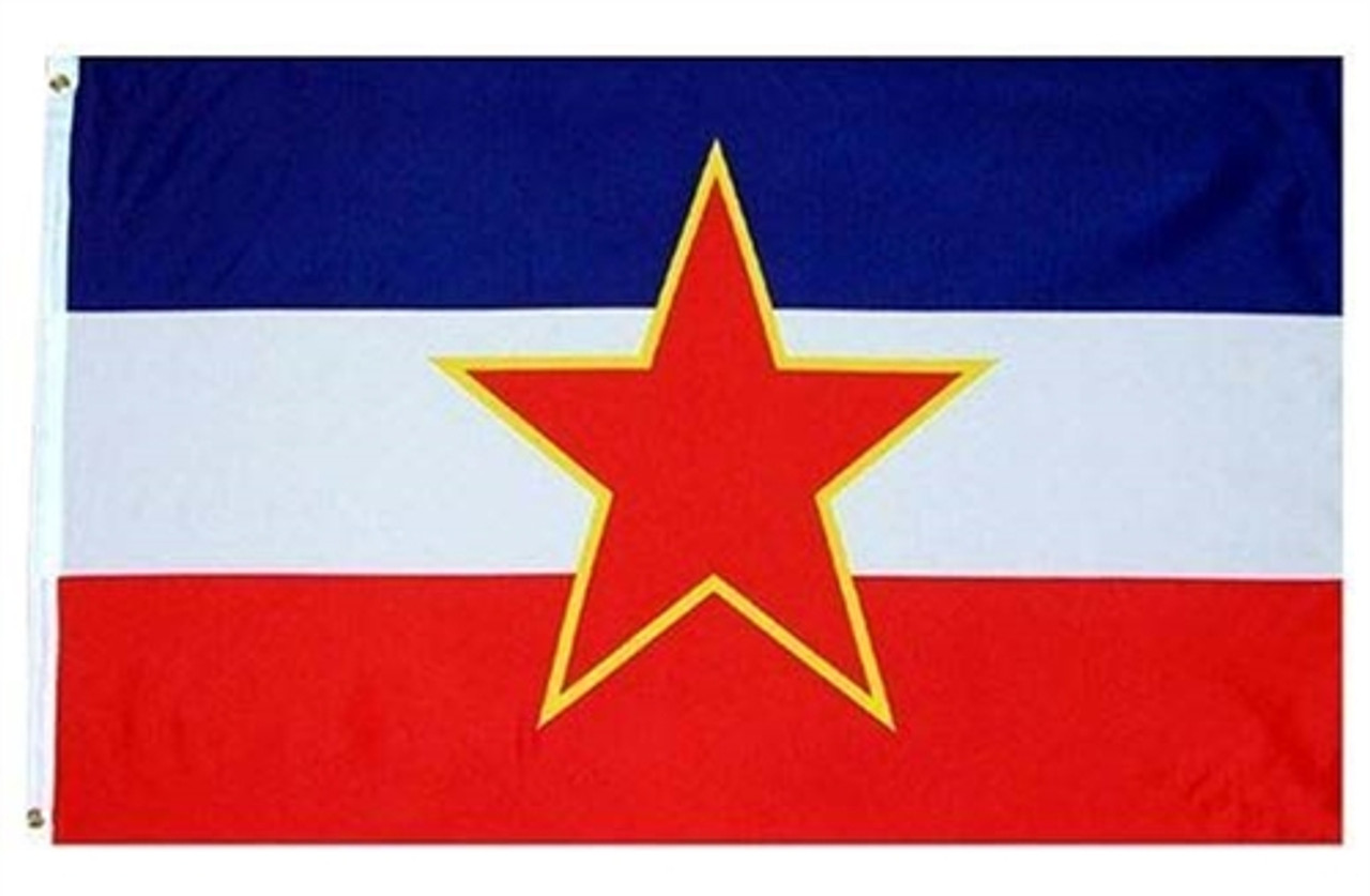National Flag Of Yugoslavia from Hessen Antique
