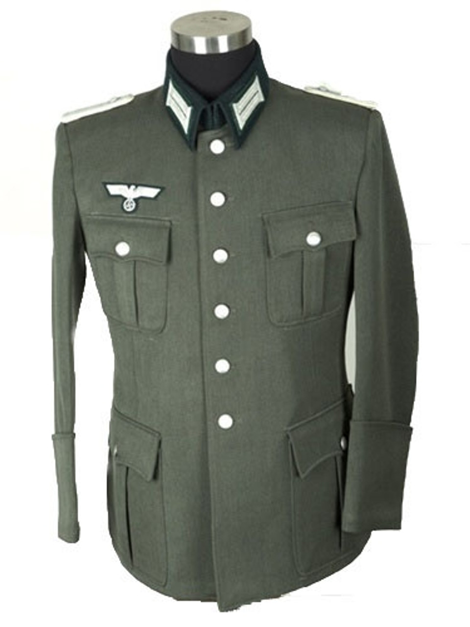 German Officer Dress Tunic in Gabardine Twill from Hessen Antique