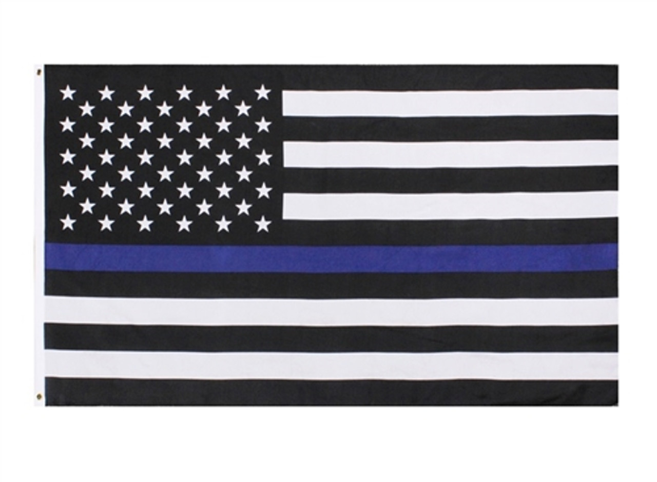 Thin Blue Line Flag from Hessen Antique