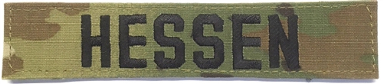 Army OCP NAME TAPES with VELCRO (5 INCH LENGTH) Tape from Hessen Antique