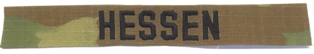 Army OCP NAME TAPES Sew-On - Black Thread (set of 2) Tape from Hessen Antique