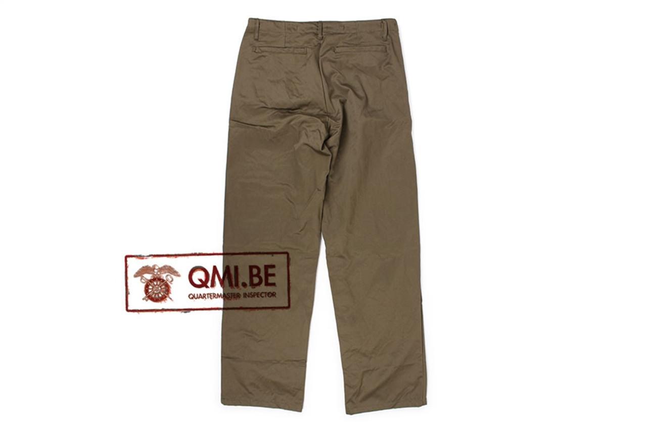 QMI M43 Trousers, Field, Cotton O.D. from Hessen Antique