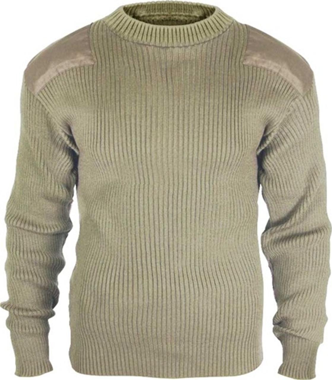Acrylic Commando Sweater - Khaki from Hessen Tactical