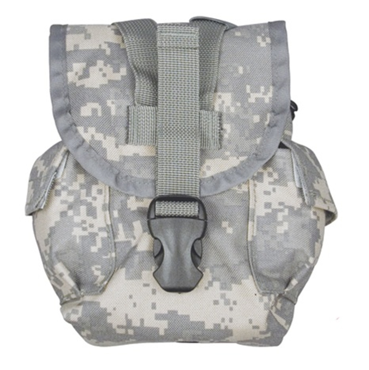 MOLLE pouch for the 1 Quart canteen and canteen cup.  ACU camouflage.  MILSPEC materials and construction.